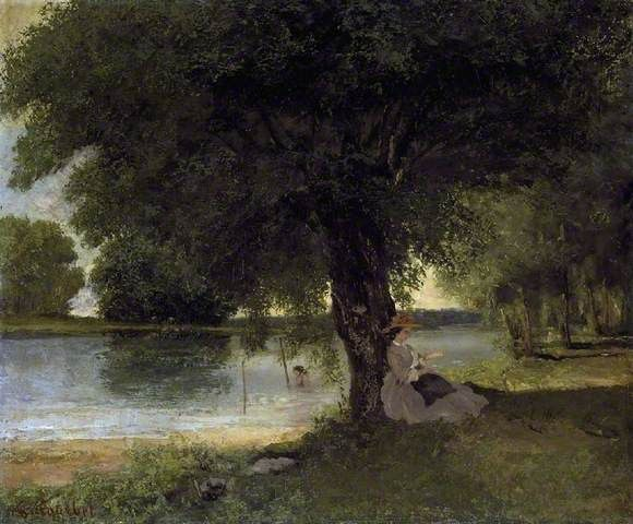 The Charente at Port-Berteau By Gustave Courbet