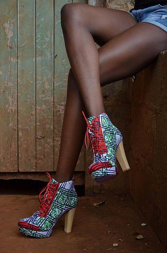 www.cewax.fr aime ces escarpins en tissu africain wax ankara Buqisi-Ruux Collections I East Africa I African Print High Heels