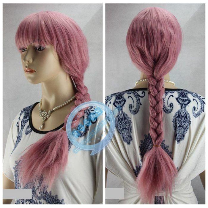Мода парик плетеные косички сен женской кукурузы пермь парик дым розовый парик косплей > ну вечеринку cosplays жаропрочных бесплатная доставка