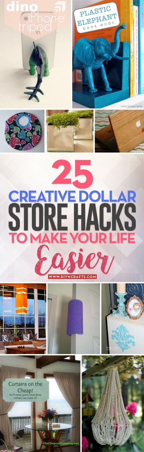 25 Creative Dollar Store Hacks to Make Your Life E…