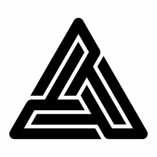 black pyramid logo behind the right ear tatted up ideas