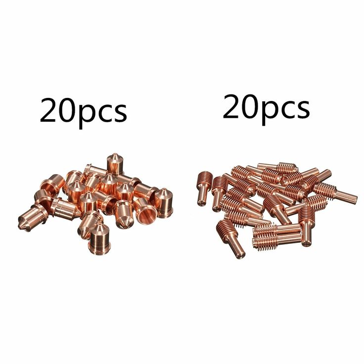 Boquilla + Electrodo 45A 20pcs Consumibles mecanizados