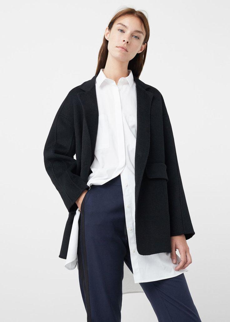 Oversize wool coat | MANGO