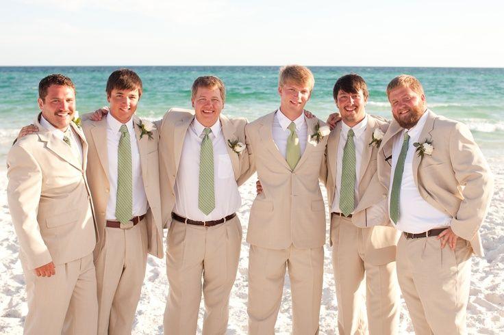 beach weddings groomsmen attire