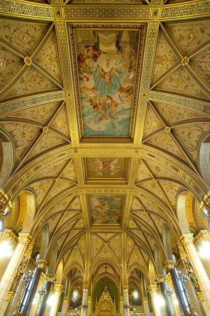 Hungary - Budapest - Parliament - The Main Staircase Ceiling  | Flickr