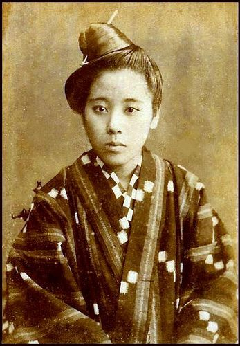 """19th CENTURY PORTRAIT OF AN OKINAWAN GIRL by Okinawa Soba, via Flickr. This CDV portrait was taken in Naha City, Okinawa, during the 1880s; said to be by a Japanese photographer visiting the Ryukyu Islands for the purpose of taking """"ethnic photos"""" for sale back in the Japanese mainland."""