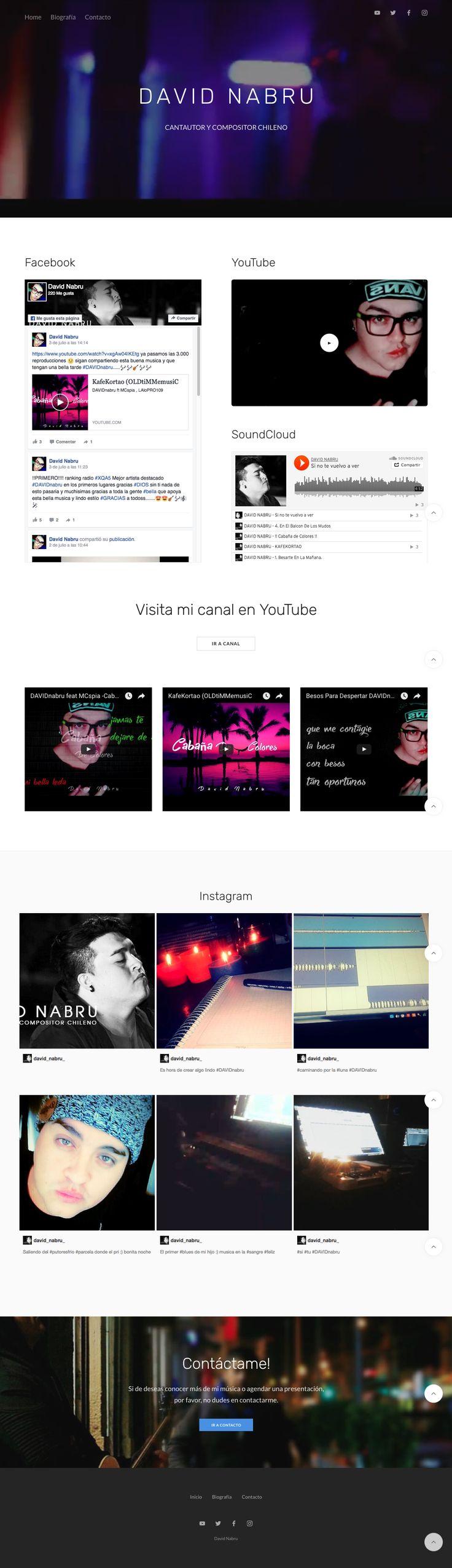 David Nabru // Cantautor y Compositor Chileno