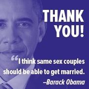Obama endorses gay marriage
