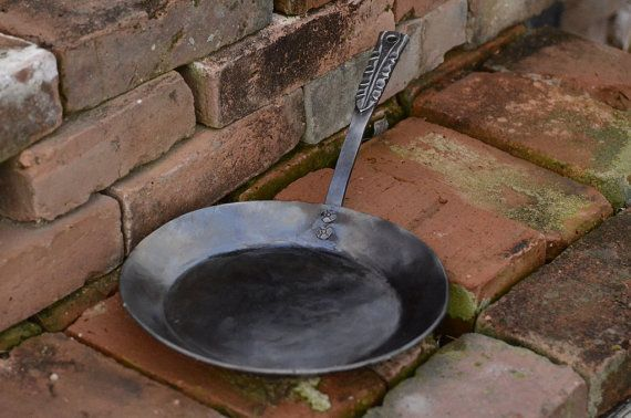 Hand Forged Iron Skillet Carbon Steel Pan by ChristCenteredForge