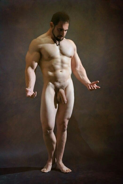 Nude male erotic model poses