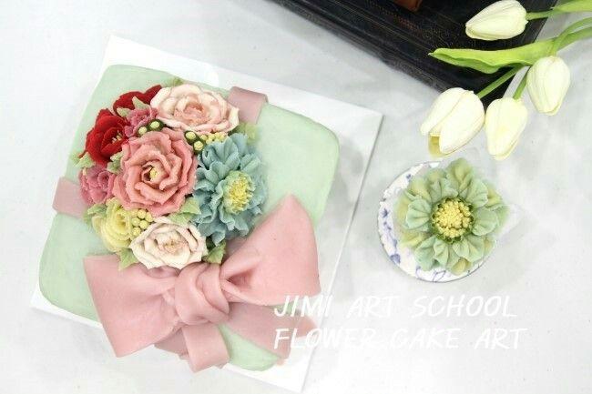 #rice cake#pink#cake#앙금플라워#flower cake#flower#rose#decoration#love#korea cake#korea food#지미아트스쿨#수강생작품