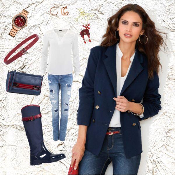 Sako modino.cz a skvělá červeno modrá kombinace... co myslíte? #fashion #women #jacket #blue #red