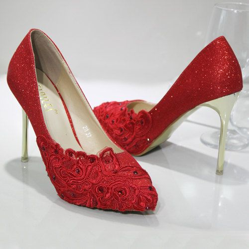 The new glass slipper wedding shoes bridal shoes by Queenheels