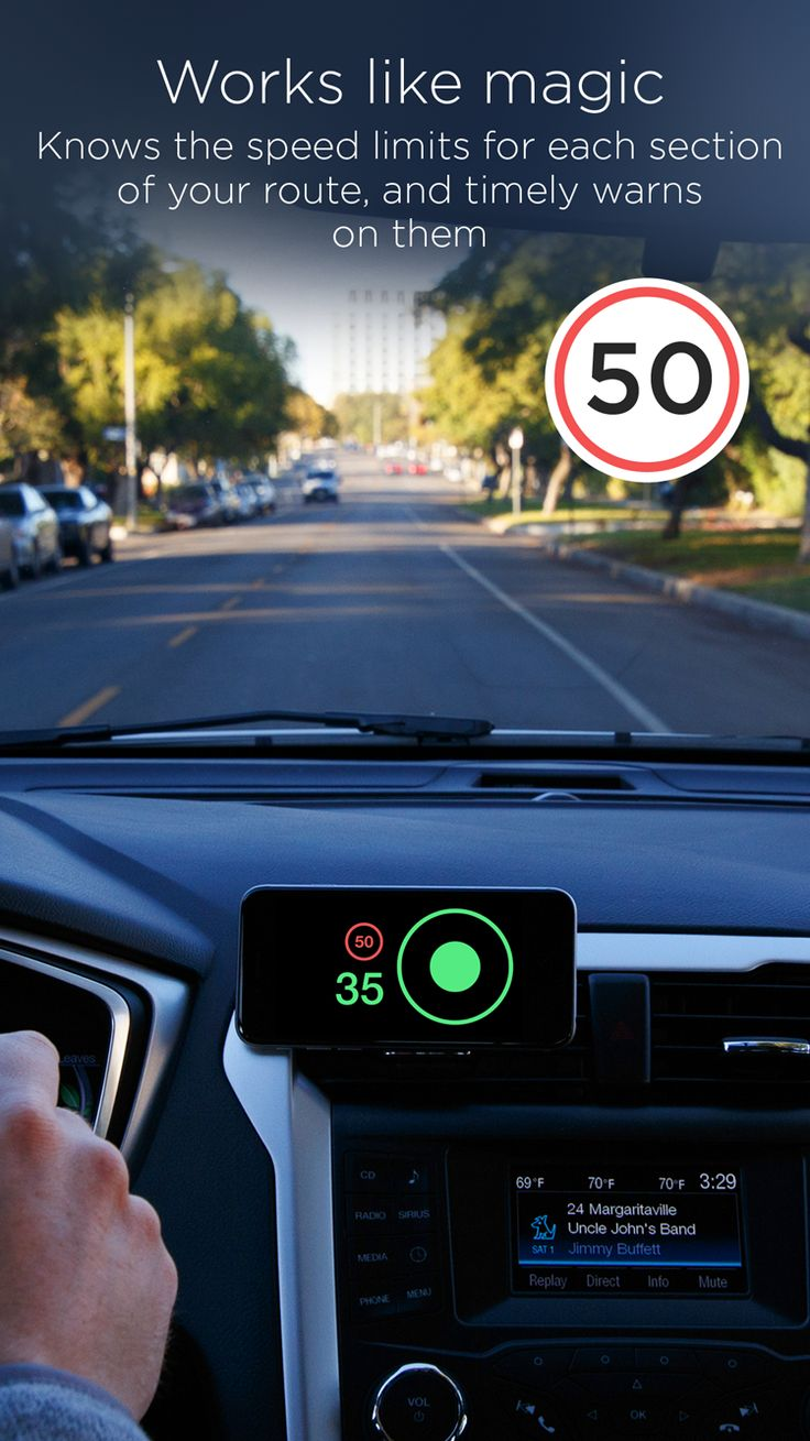 Speedometer app by hudway for ios and android get speed limits information right on the