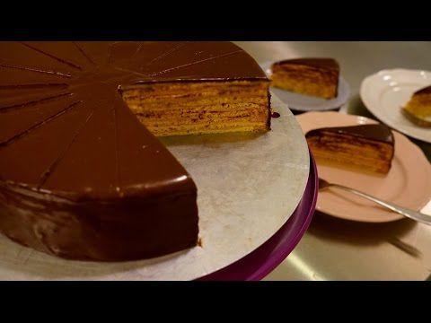 Klassische Prinzregententorte - Prinz-Regenten-Torte - Vanillebiskuit Sc...