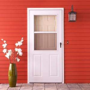 EMCO, 32 in. x 80 in. 200 Series White Traditional Storm Door, E2TR-32WH at The Home Depot - Mobile