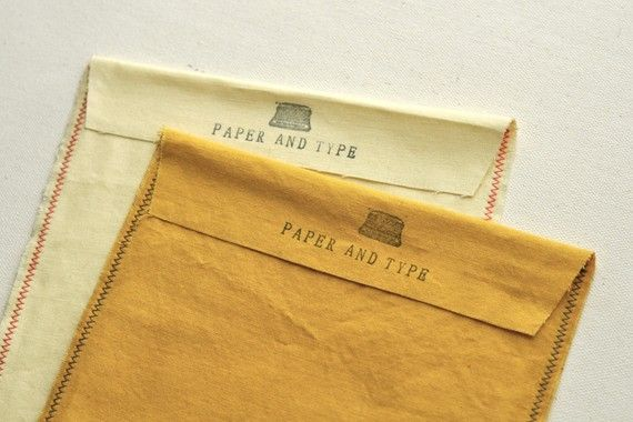 fabric envelopes {via paper & type}