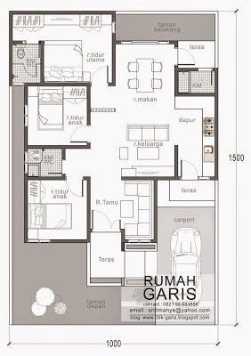 inspirasi gambar denah rumah minimalis 2 lantai ukuran