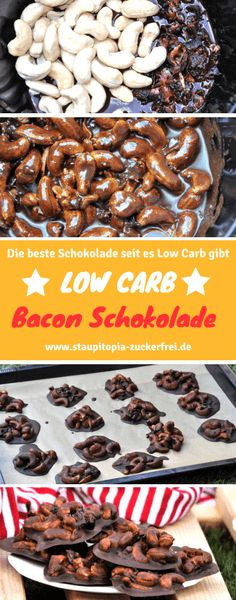 Low Carb Schokolade trifft auf Bacon und Cashews! Ich bin mir sicher, dass du diese ungewöhnliche Low Carb Schokolade lieben wirst! Und das Beste: Du benötigst nicht mehr als 5 Zutaten. Nachmachen unbedingt empfohlen!