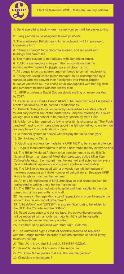 New UKIP manifesto...