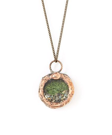 Look at this #zulilyfind! Copper Tiny Woodland Circle Pendant Necklace by Heron and Lamb #zulilyfinds