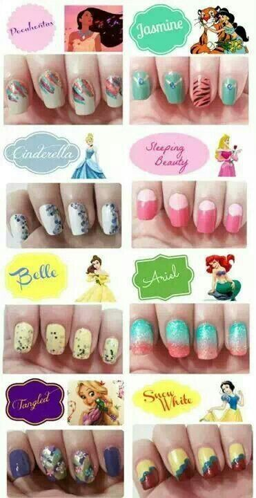 Disney princesses nails