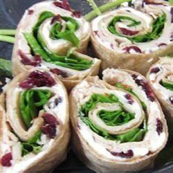 Turkey, Cranberry, and Spinach Roll-Ups - Allrecipes.com