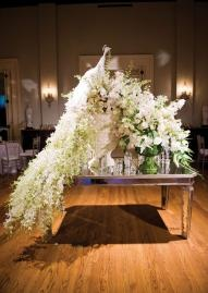 This White Wedding Peacock Decoration Is Unbelievable! Photo By Ace Cuervo  Photography. #wedding