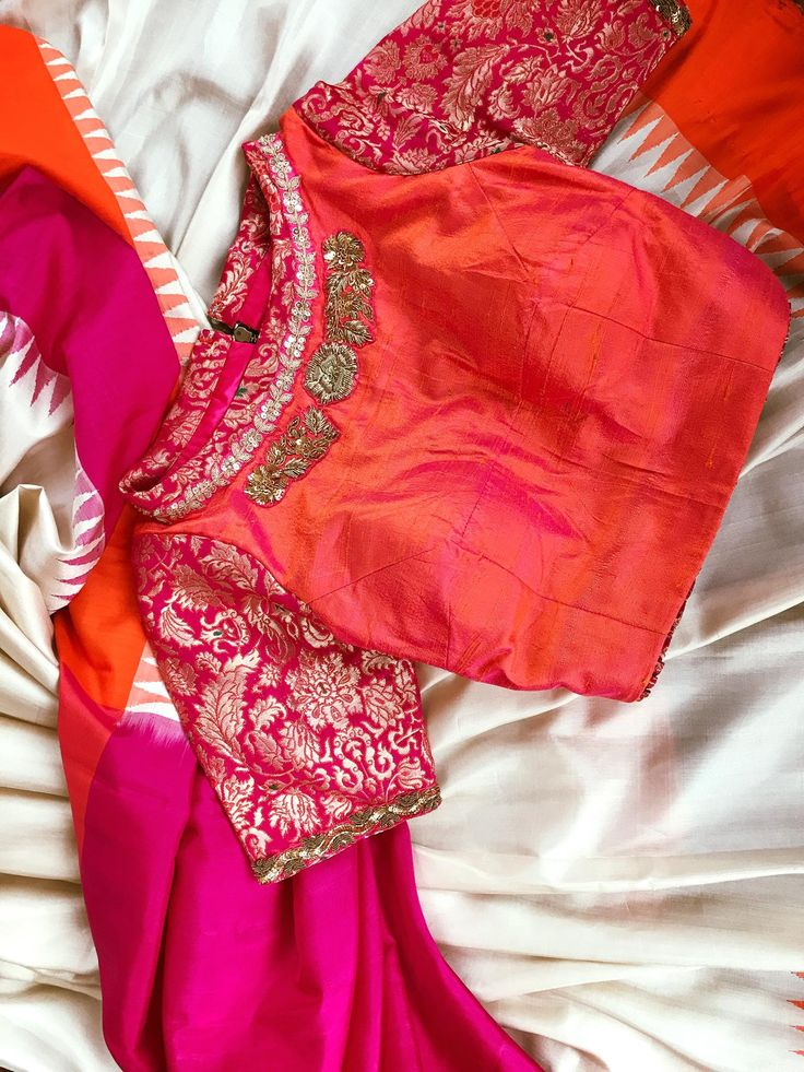 For solid colour saris