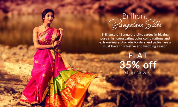 #Wedding and Festival Special: #Bangalore #Brocade #SilkSarees at 35% OFF!