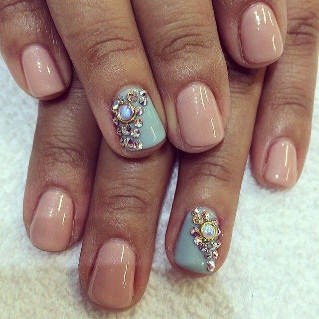 .@laquenailbar | Gel manicure with design $42 #laquenailbar | Webstagram