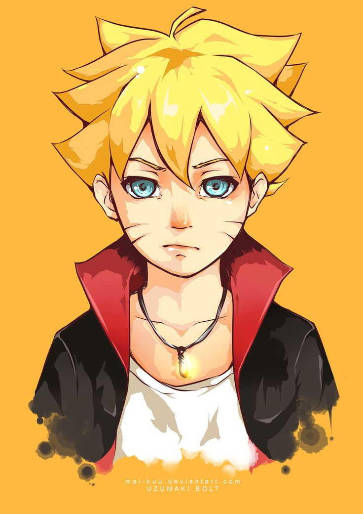 Uzumaki Bolt [by mai-kuu.deviantart.com] Gi hi hi let's see how  much he is similar to father <3