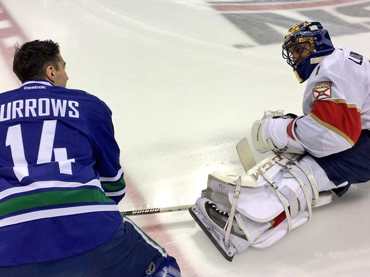 canucks celebrate after defeating alex burrows roberto luongo. vancouver canuckshockeyalex .
