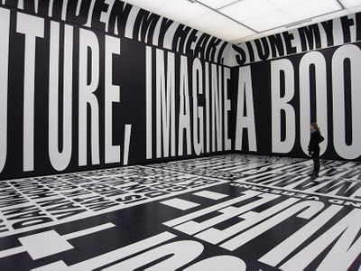 Past   Present   Future art installation by Barbara Kruger.