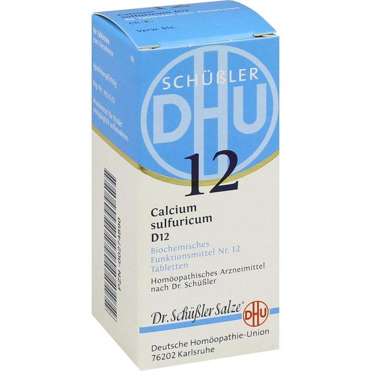 BIOCHEMIE DHU Schüssler Salz 12 Calcium sulfuricum D12 Tabletten: Schüssler Salz Nr.12  Packungsinhalt: 80 St Tabletten PZN: 00274890…