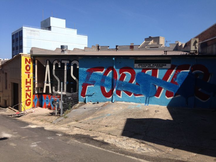 Interesting perspective for 'Nothing Lasts Forever' in Crown Lane, Wollongong