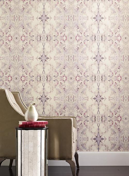 Inner Beauty Wallpaper in Aquamarine, Teal, and Cream design by York W | BURKE DECOR