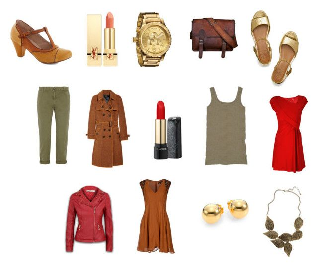 """""""TA"""" by angstgirl ❤ liked on Polyvore featuring Burberry, Tory Burch, Nixon, Yves Saint Laurent, Lancôme, Tees by Tina, René Derhy, Current/Elliott, Chelsea Crew and French Connection"""