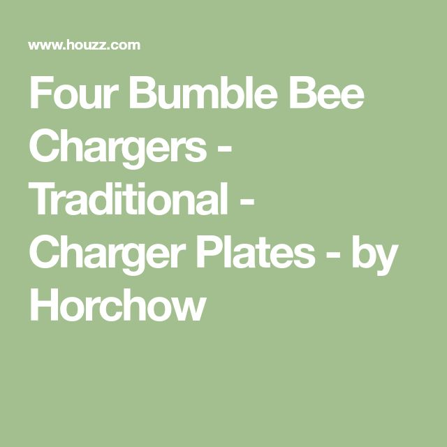 Four Bumble Bee Chargers - Traditional - Charger Plates - by Horchow