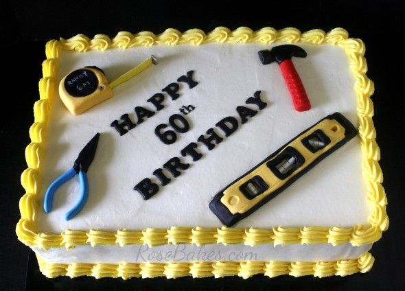 Tools Cake For 60th Birthday Happy Fathers Day