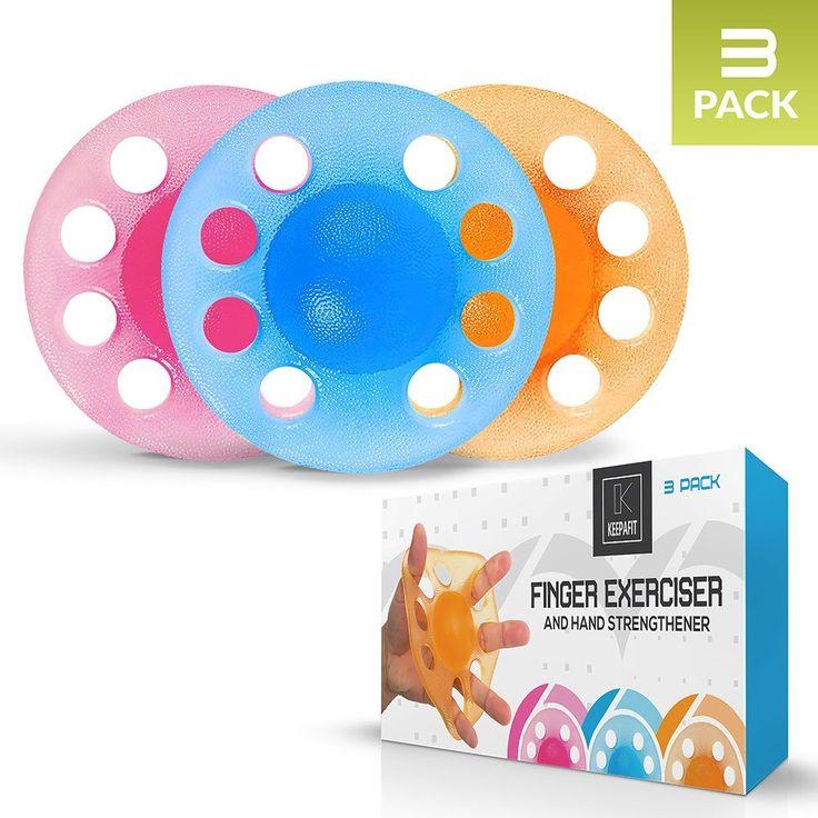 amazon.com : Finger Exerciser & Hand Strengthener (3 Pack(Light+Medium+Heavy)) : Sports & Outdoors