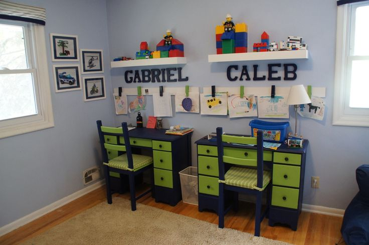 The Kid-Friendly Home: Boys' Shared Bedroom: Lego Theme