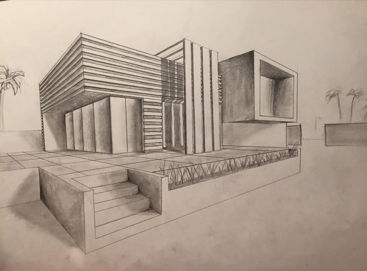 Sketch of a modern home