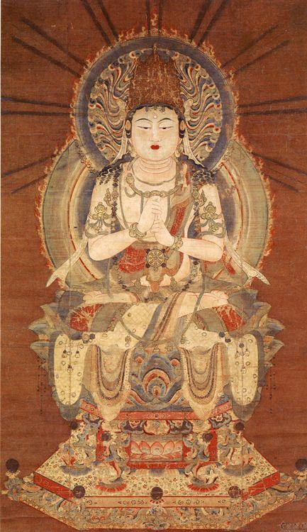 大日如来 Dainichi Nyorai: the sun Buddha, called Vairocana or Mahāvairocana; a celestial buddha who is often interpreted, in texts like the Flower Garland Sutra, as the Bliss Body of the historical Buddha (Siddhartha Gautama). In Chinese, Korean, and Japanese Buddhism, Vairocana is also seen as the embodiment of the Buddhist concept of Emptiness. In the conception of the Five Wisdom Buddhas of Vajrayana Buddhism, Vairocana is at the centre.