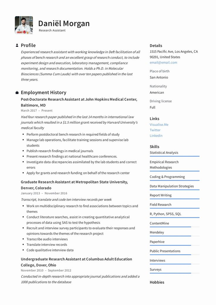 Research assistant Resume Examples Luxury Research