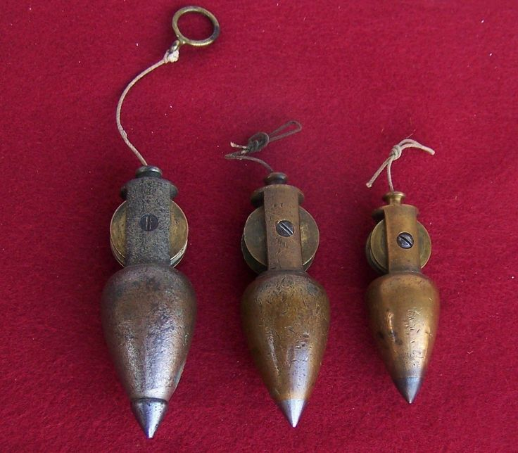 Plumb Bob Set of 3 Stanley Reel Type | eBay | Old Tools ...