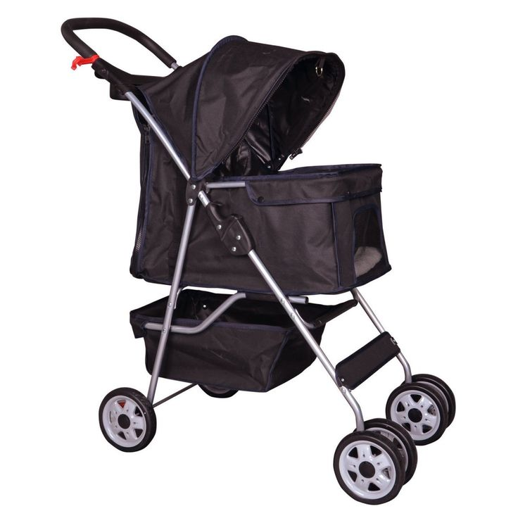 New Pet Stroller Cat Dog Cage Travel Folding Carrier 4 Wheels Black -431 -- You can get more details by clicking on the image. (This is an affiliate link and I receive a commission for the sales)