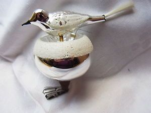 Weihnachtsschmuck-Christbaumschmuck-Bird-Vogel-Vogelnest-Lauscha-Glas