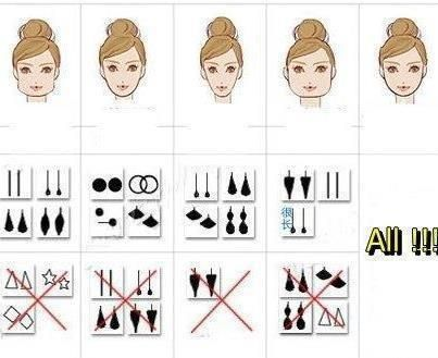 What style earrings go with your face shape!