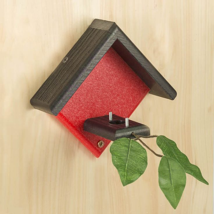 Duncraft Little Red Hummingbird House-Enjoy watching energetic hummingbirds raise a family! Since hummingbirds will not nest in a windy location, choose a place under the eave of your house, garage or shed to mount this little red hummingbird house.